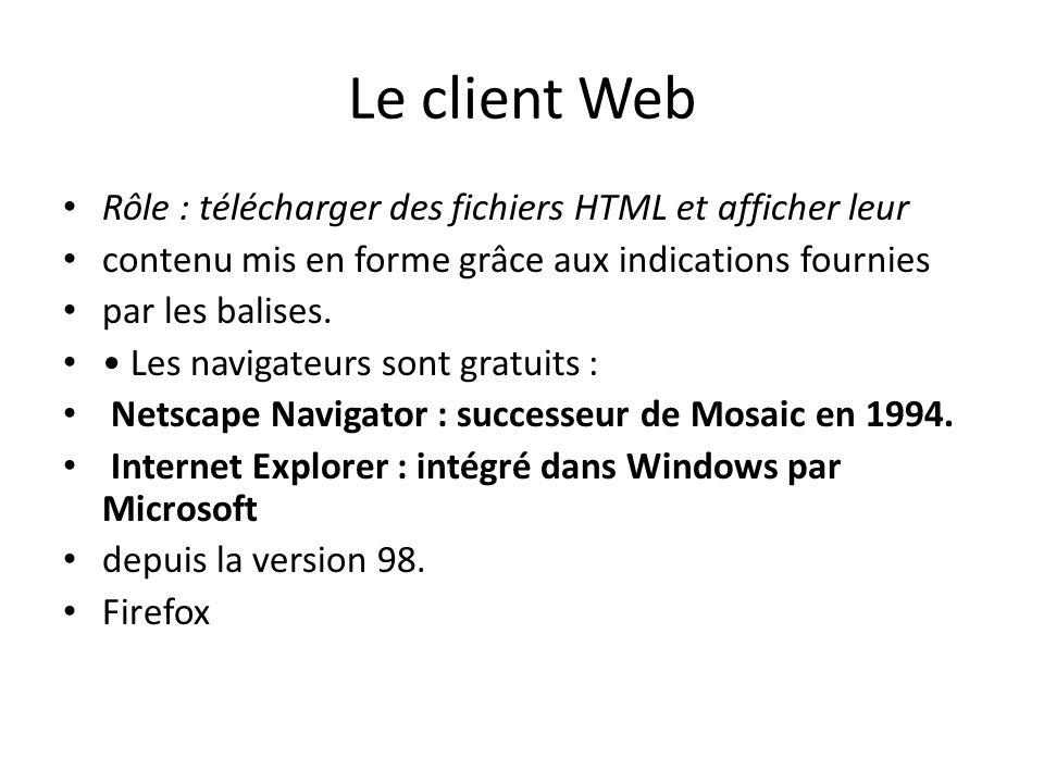 Le client Web Rôle : télécharger des fichiers HTML et afficher leur