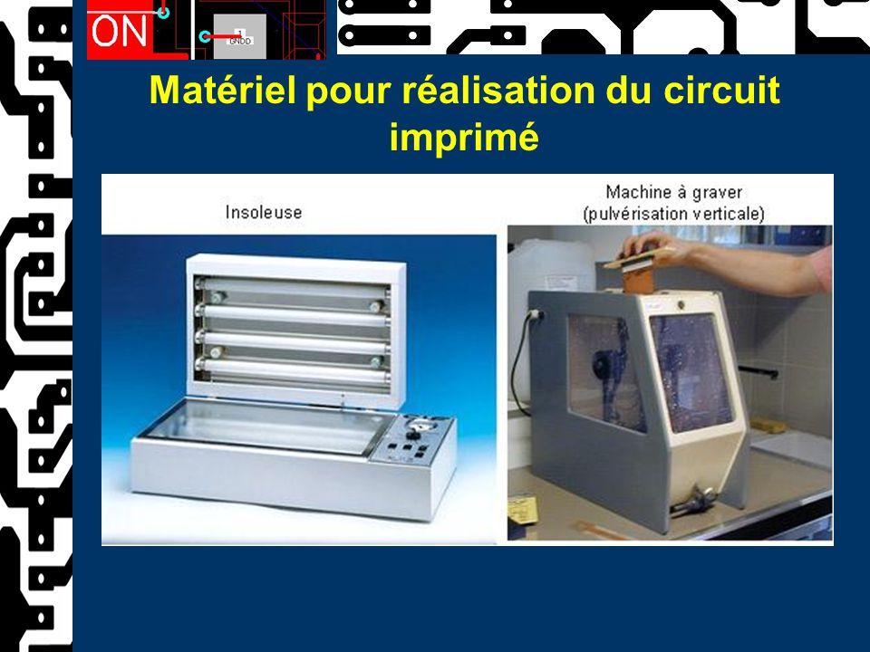 Matériel pour réalisation du circuit imprimé