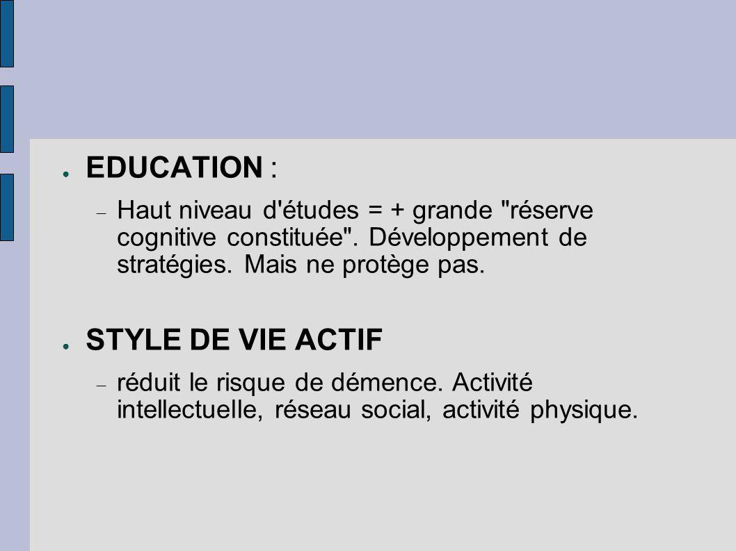 EDUCATION : STYLE DE VIE ACTIF