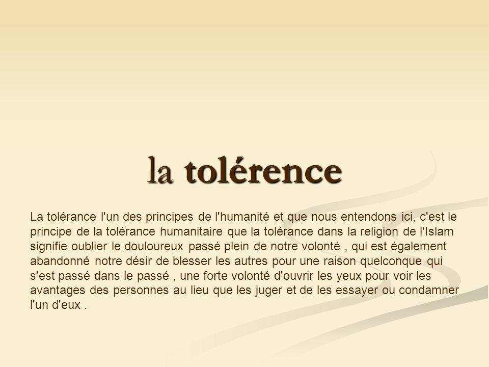 la tolérence