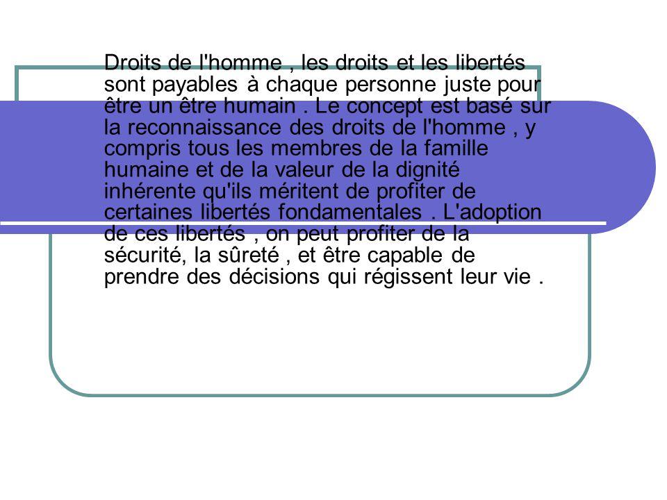 droits de l homme