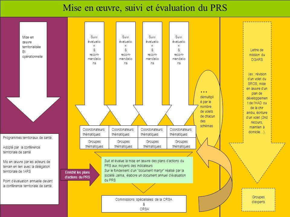 Mise en œuvre, suivi et évaluation du PRS