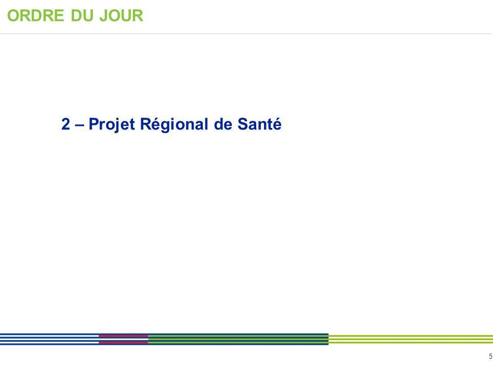 ORDRE DU JOUR 2 – Projet Régional de Santé