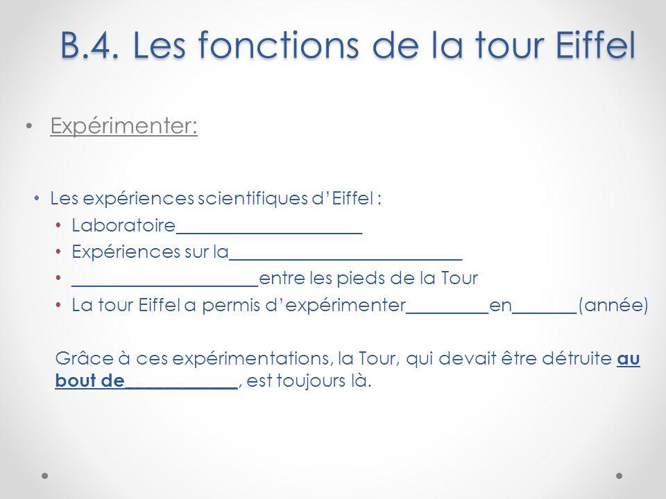 B.4. Les fonctions de la tour Eiffel