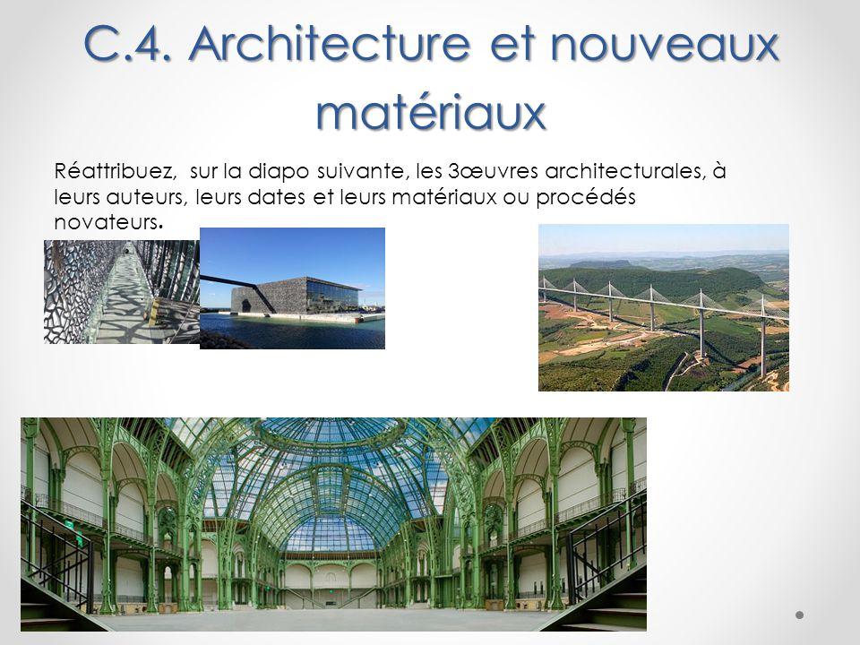 C.4. Architecture et nouveaux matériaux