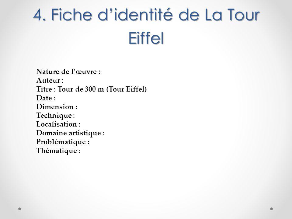 4. Fiche d'identité de La Tour Eiffel