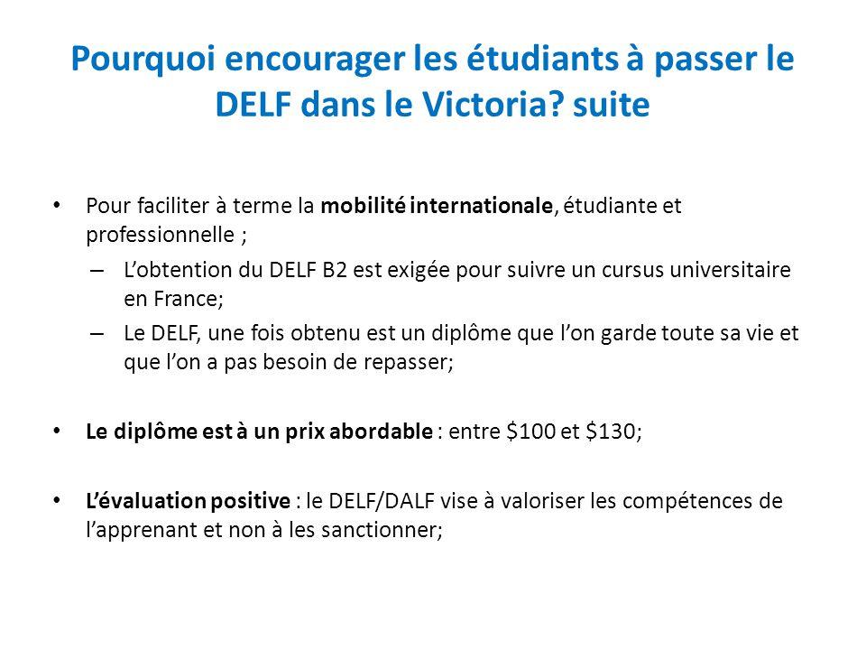 Pourquoi encourager les étudiants à passer le DELF dans le Victoria