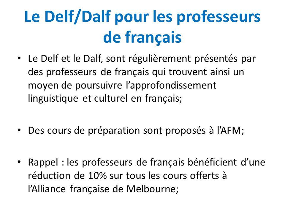 Le Delf/Dalf pour les professeurs de français
