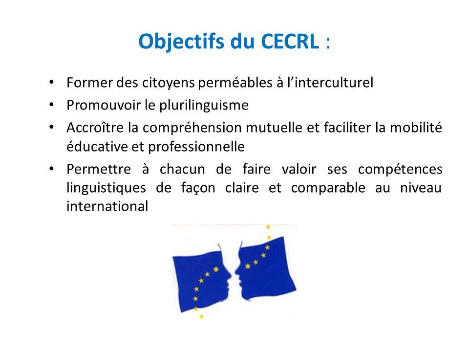 Objectifs du CECRL : Former des citoyens perméables à l'interculturel