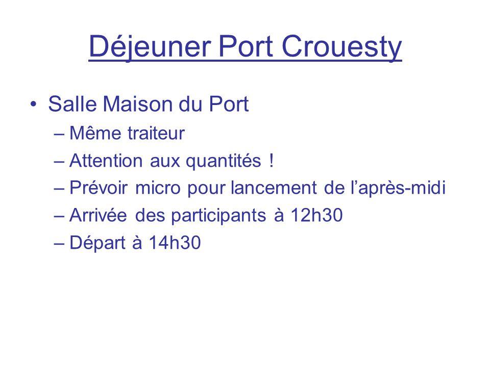 Déjeuner Port Crouesty