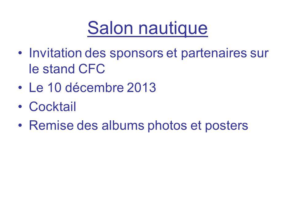 Salon nautique Invitation des sponsors et partenaires sur le stand CFC
