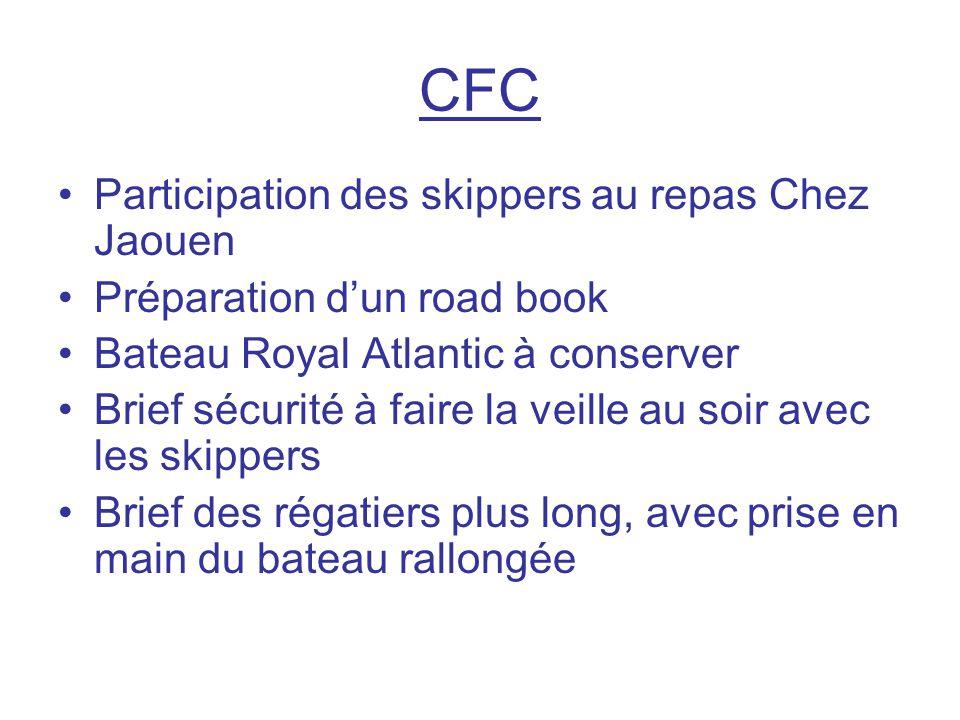 CFC Participation des skippers au repas Chez Jaouen