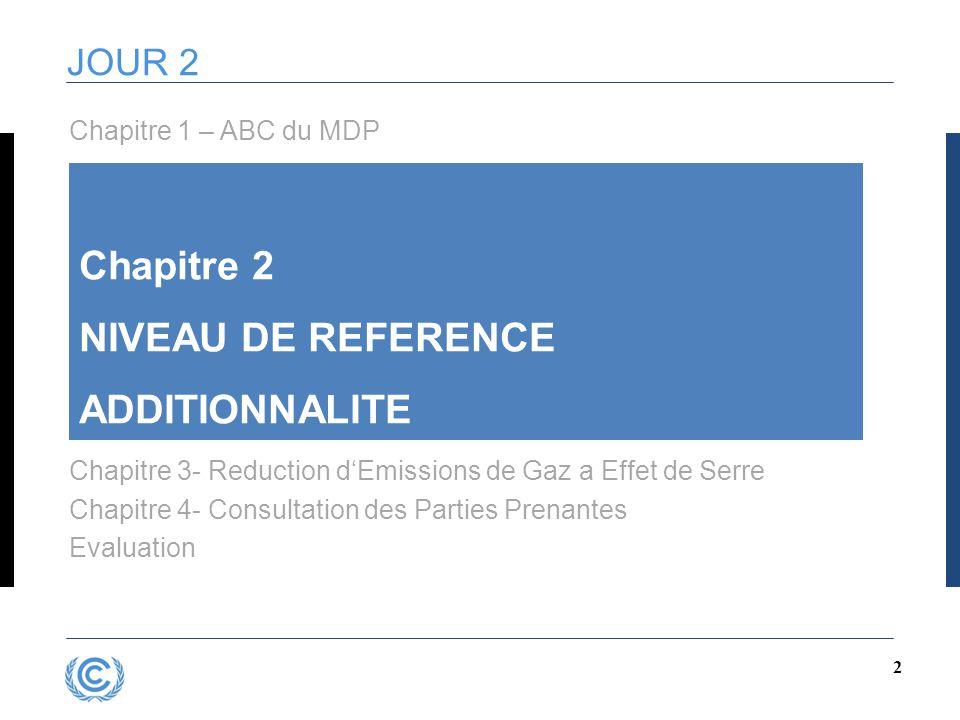 Chapitre 2 NIVEAU DE REFERENCE ADDITIONNALITE JOUR 2