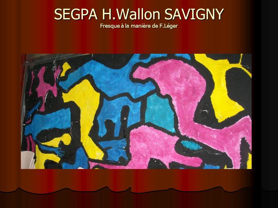 SEGPA H.Wallon SAVIGNY Fresque à la manière de F.Léger