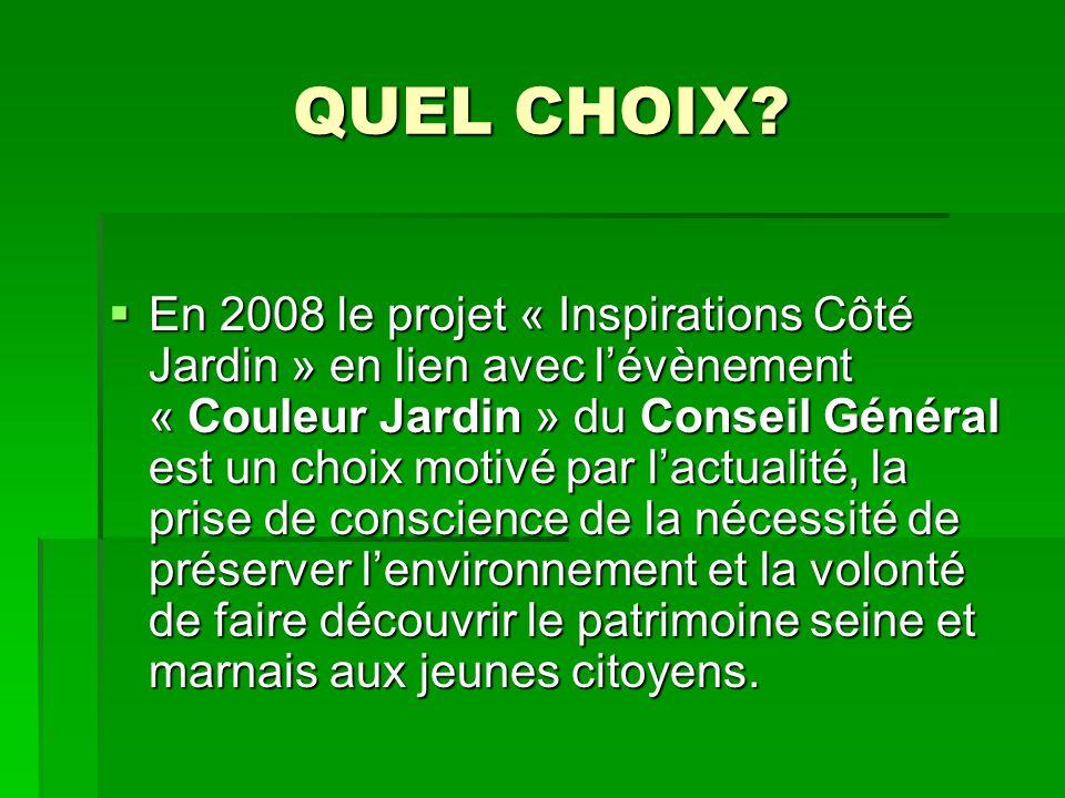 QUEL CHOIX