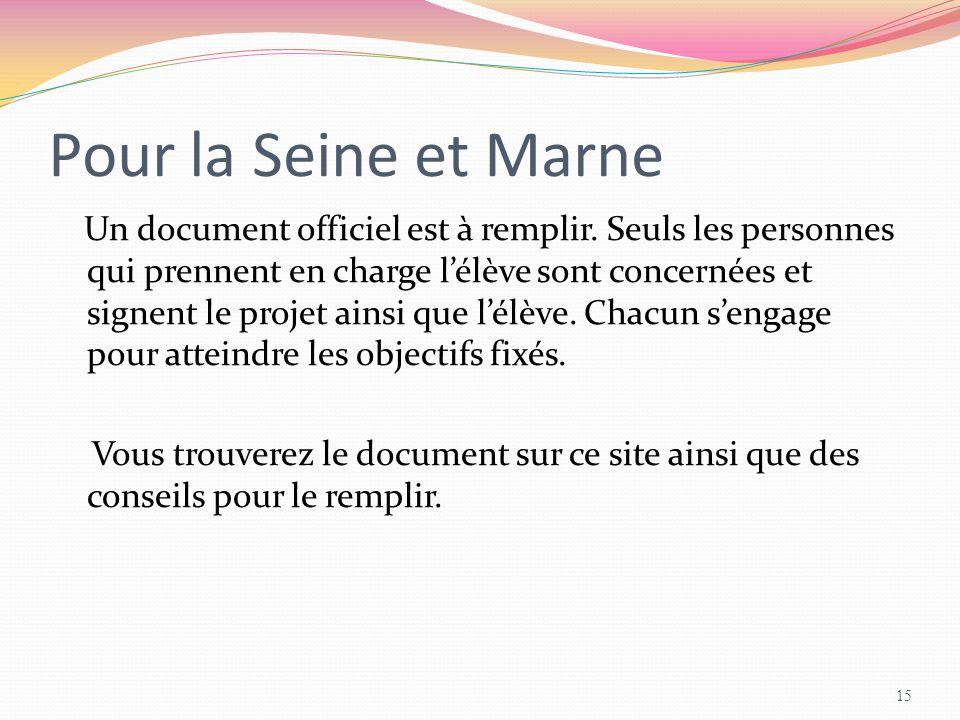 Pour la Seine et Marne
