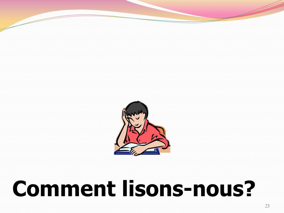 Comment lisons-nous Corinne GALLET & Sylvie QUELET