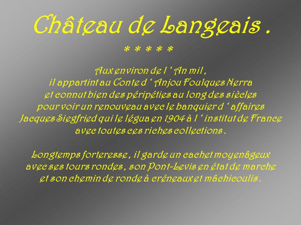Château de Langeais . * * * * * Aux environ de l ' An mil ,