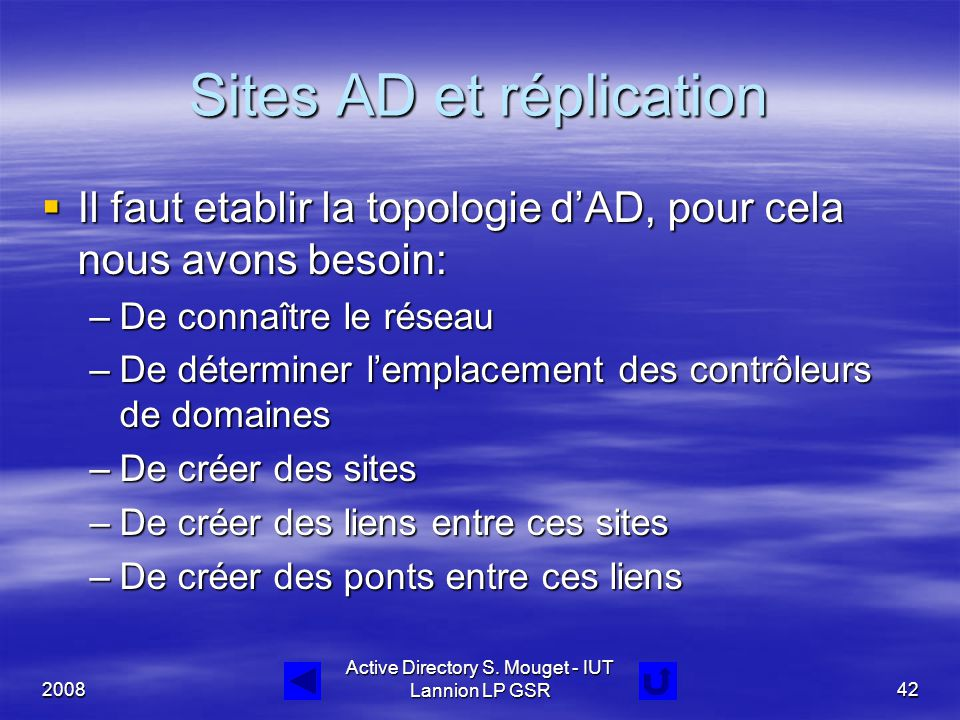 Sites AD et réplication