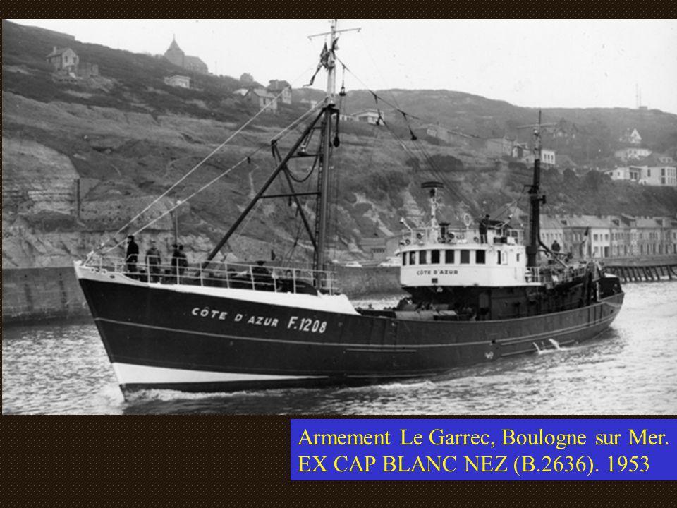 Armement Le Garrec, Boulogne sur Mer. EX CAP BLANC NEZ (B.2636). 1953