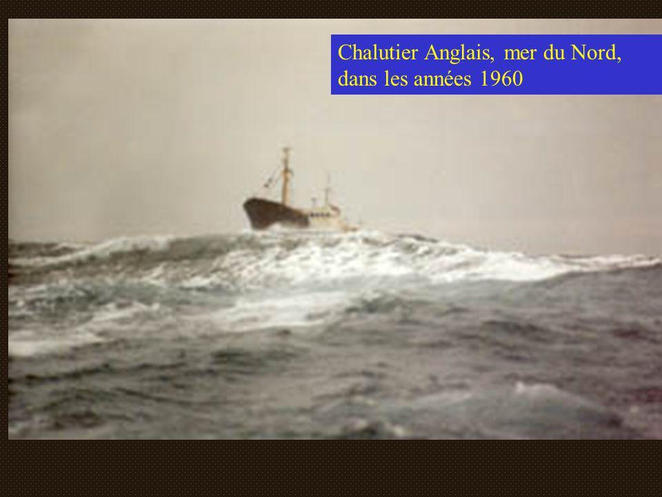 Chalutier Anglais, mer du Nord, dans les années 1960