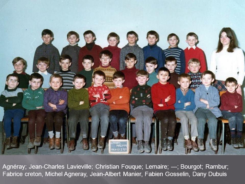 Agnéray; Jean-Charles Lavieville; Christian Fouque; Lemaire; ---; Bourgot; Rambur; Fabrice creton, Michel Agneray, Jean-Albert Manier, Fabien Gosselin, Dany Dubuis