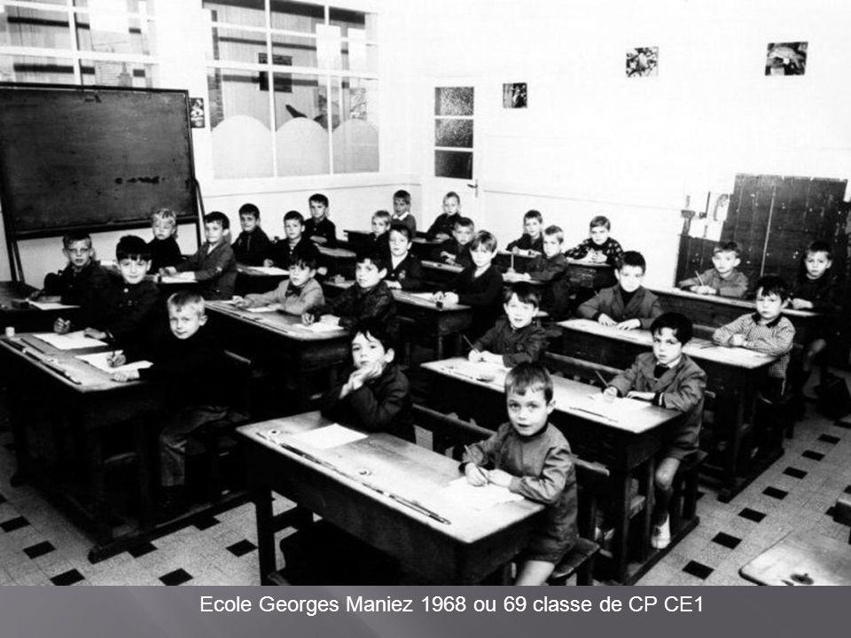Ecole Georges Maniez 1968 ou 69 classe de CP CE1