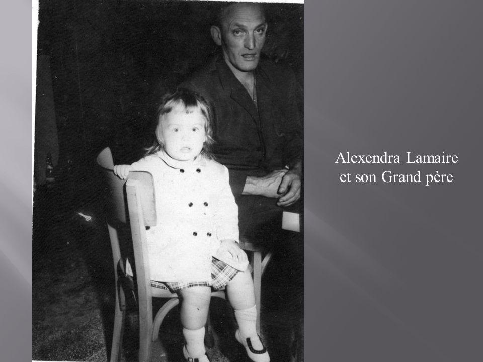 Alexendra Lamaire et son Grand père