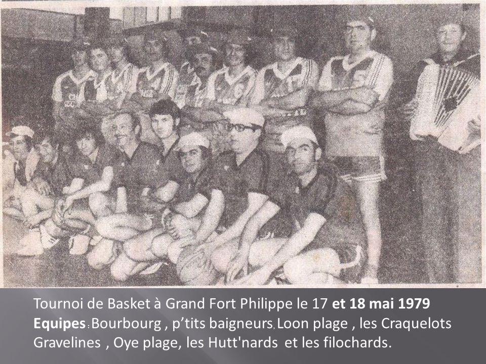 Tournoi de Basket à Grand Fort Philippe le 17 et 18 mai 1979