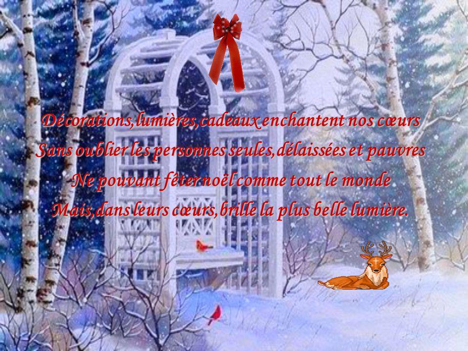Décorations,lumières,cadeaux enchantent nos cœurs