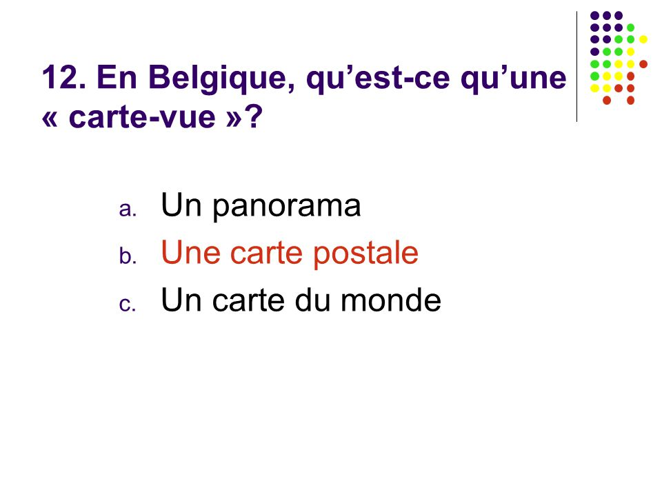 francophonie correction du quiz courtesy of alice million ppt t l charger. Black Bedroom Furniture Sets. Home Design Ideas