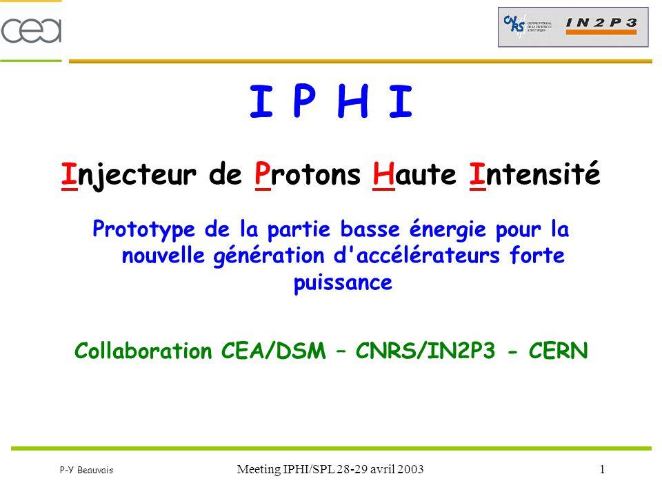 I P H I Injecteur de Protons Haute Intensité