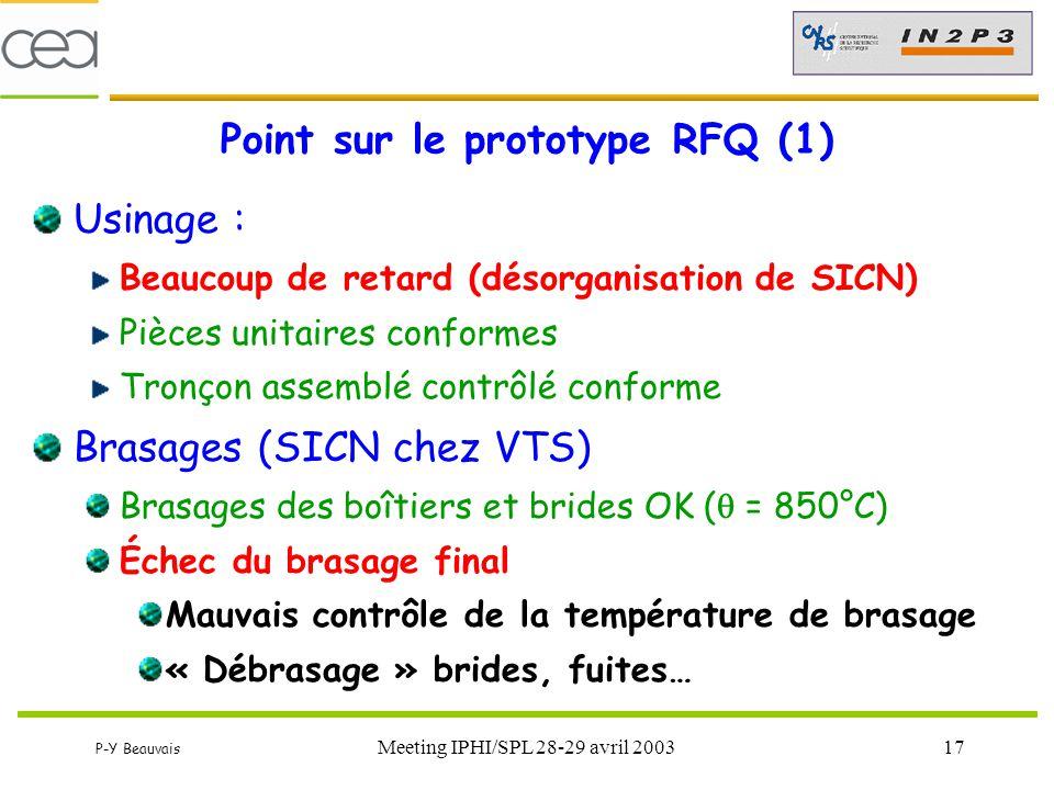 Point sur le prototype RFQ (1)