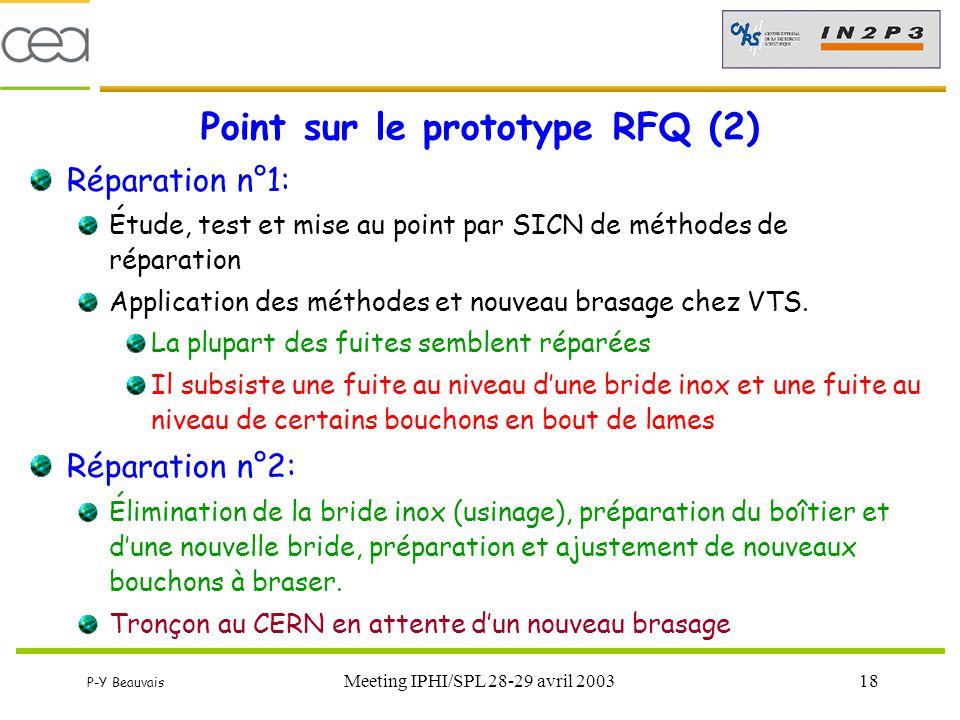 Point sur le prototype RFQ (2)
