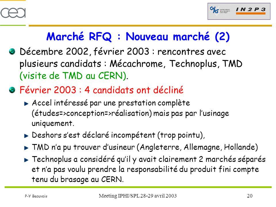 Marché RFQ : Nouveau marché (2)