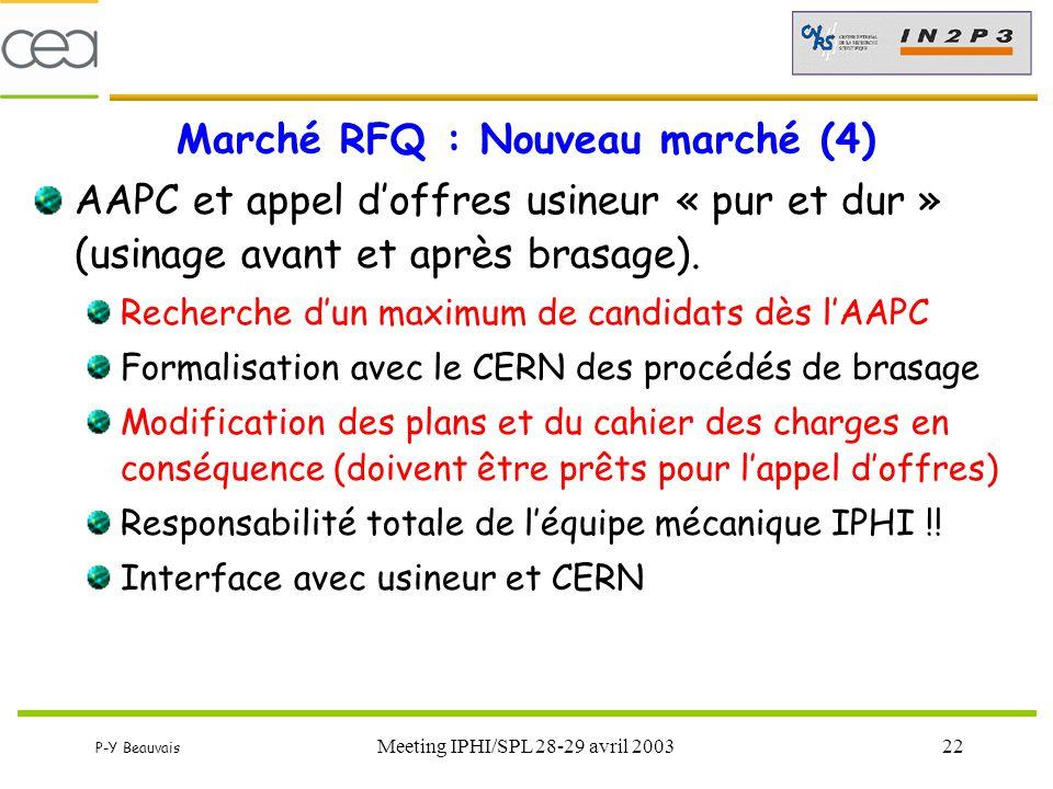 Marché RFQ : Nouveau marché (4)