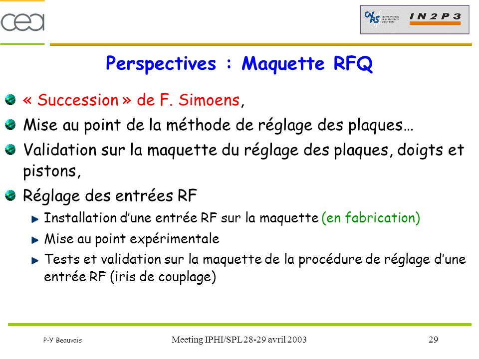 Perspectives : Maquette RFQ
