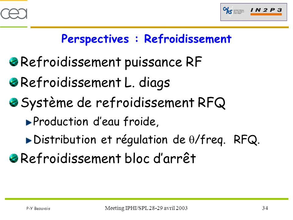 Perspectives : Refroidissement