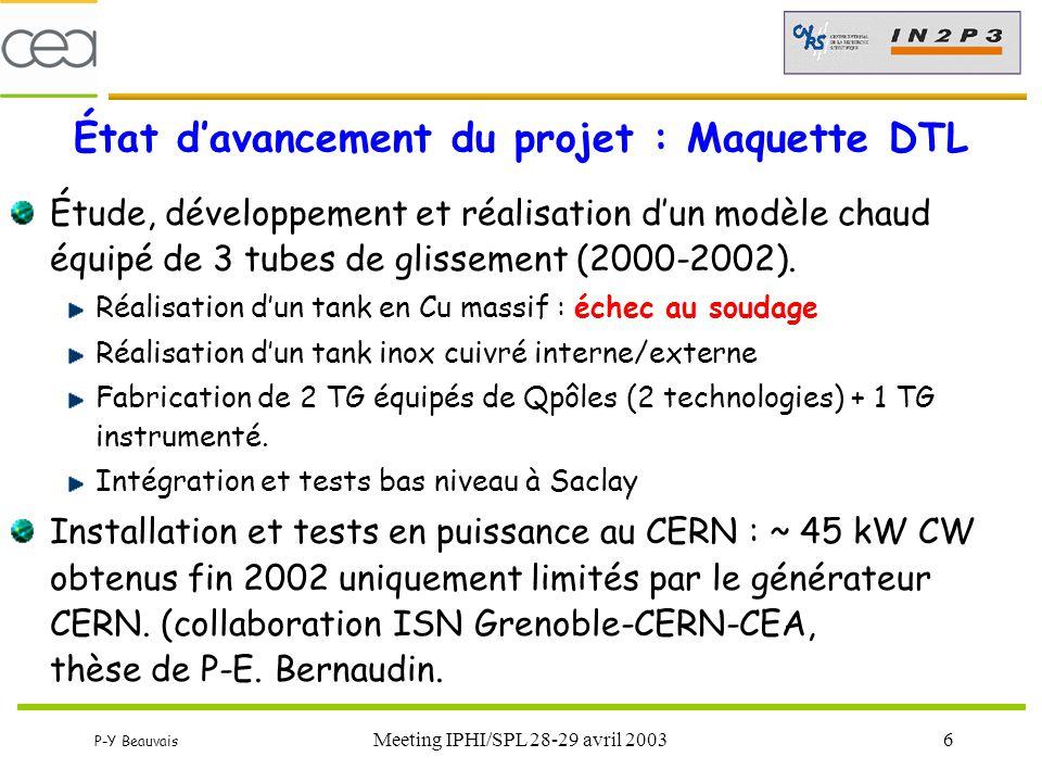 État d'avancement du projet : Maquette DTL
