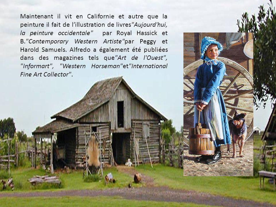 Maintenant il vit en Californie et autre que la peinture il fait de l'illustration de livres Aujourd hui, la peinture occidentale par Royal Hassick et B. Contemporary Western Artiste par Peggy et Harold Samuels.