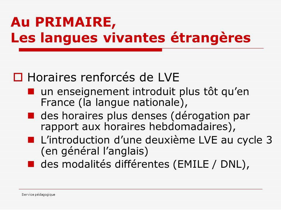 Au PRIMAIRE, Les langues vivantes étrangères