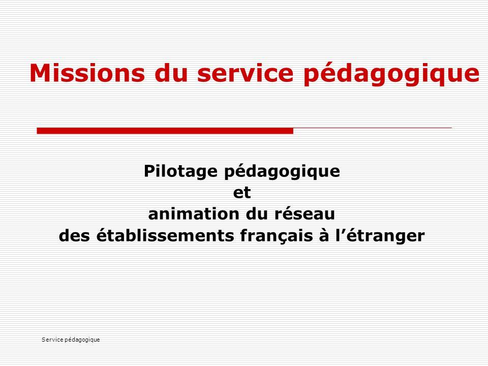 Missions du service pédagogique