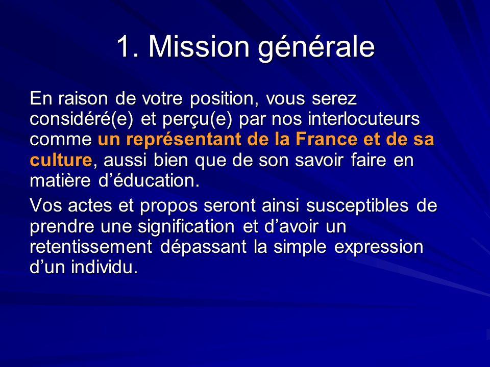 1. Mission générale