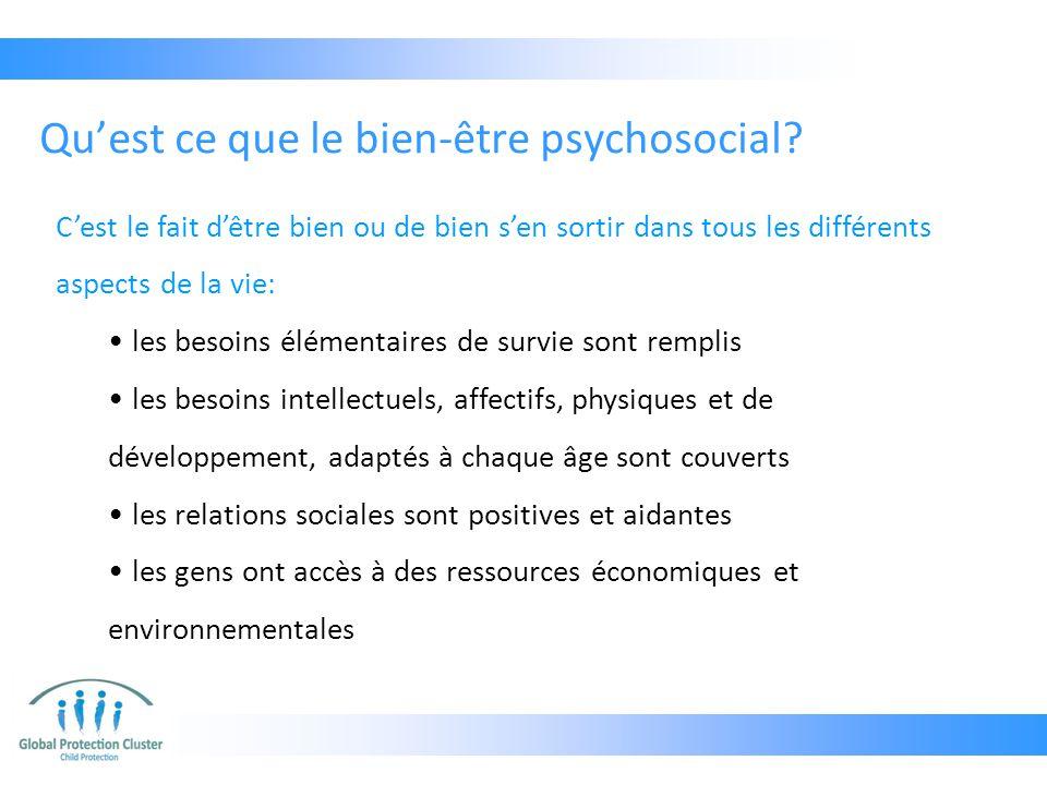 Qu'est ce que le bien-être psychosocial