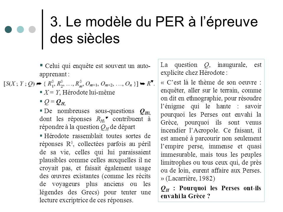 3. Le modèle du PER à l'épreuve des siècles