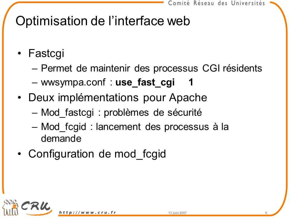 Optimisation de l'interface web