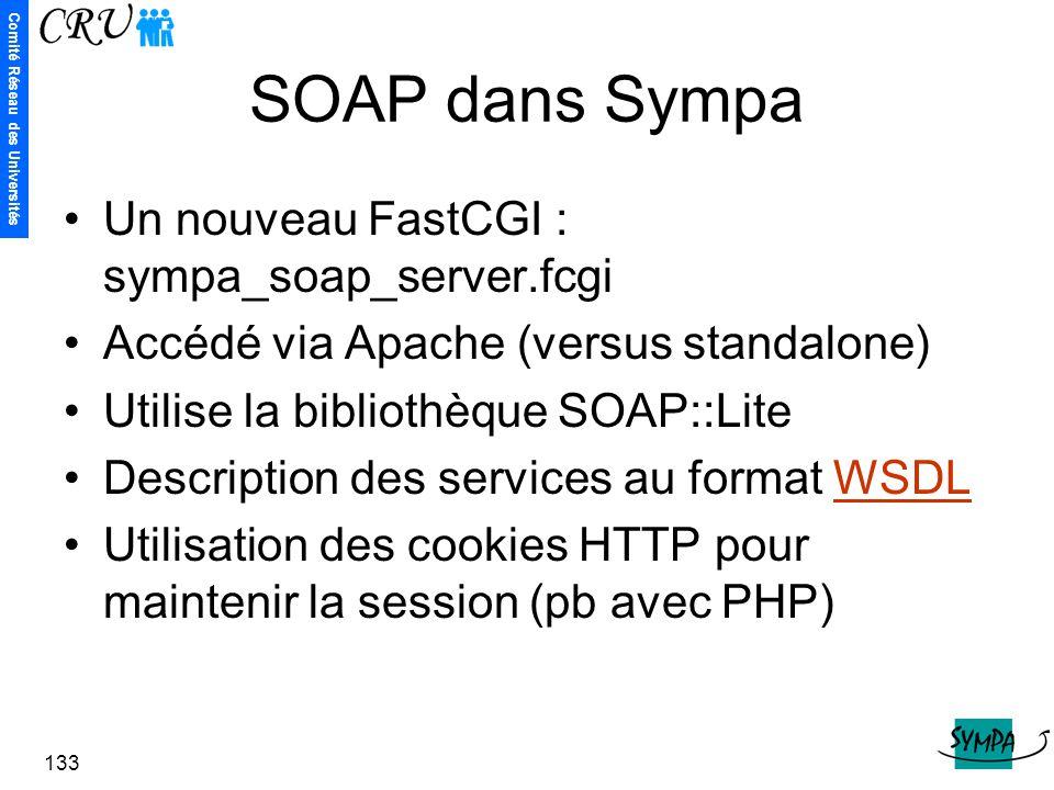 SOAP dans Sympa Un nouveau FastCGI : sympa_soap_server.fcgi
