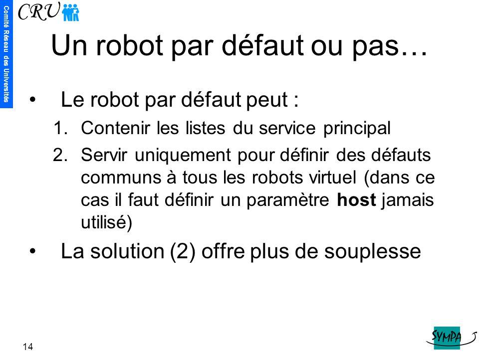 Un robot par défaut ou pas…