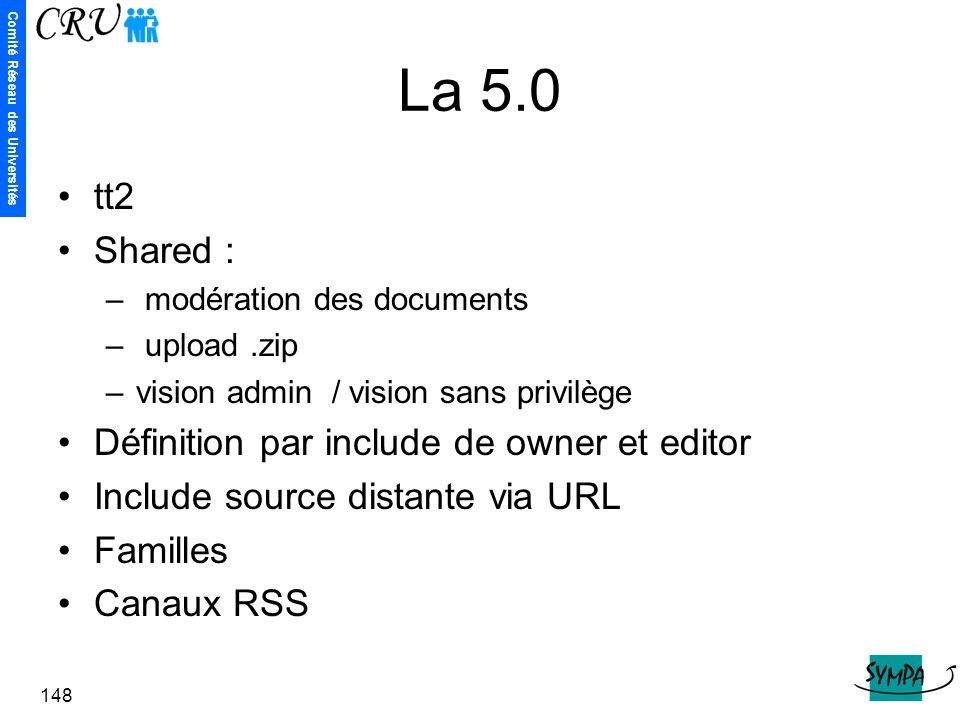 La 5.0 tt2 Shared : Définition par include de owner et editor