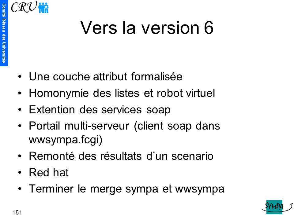 Vers la version 6 Une couche attribut formalisée